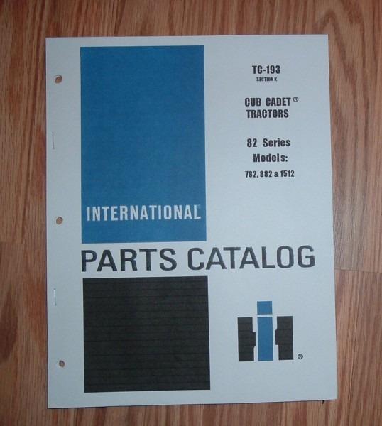 Cub Cadet 782 Tractor & Diesel Engine Illustrated Parts List