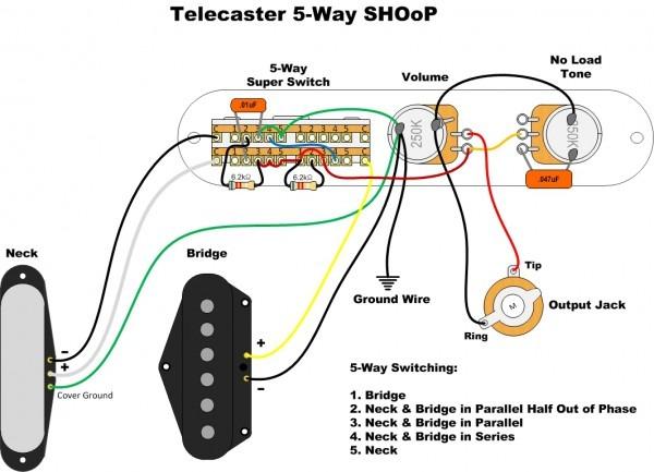 Fender Telecaster 4 Way Switch Wiring Diagram