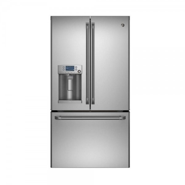 Cafe 27 8 Cu  Ft  French Door Refrigerator With Hot Water In
