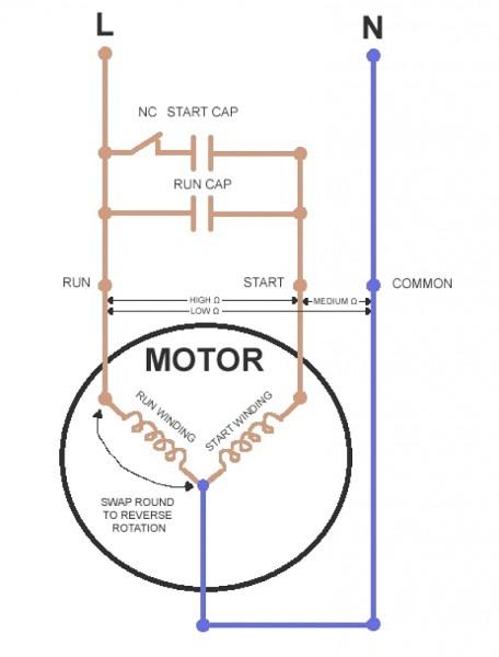 Single Phase Reversible Motor Wiring Diagram