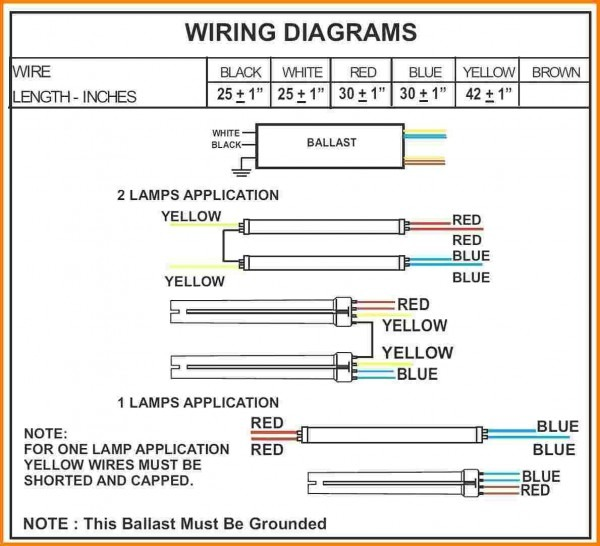 4 Lamp T8 Ballast Wiring Diagram