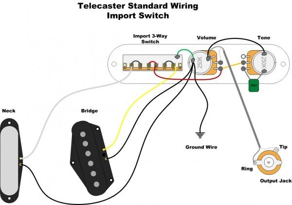 3 Pickup Telecaster Wiring Diagram