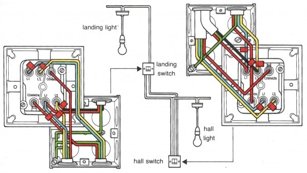 4 Way Switch Diagram For Wiring Two Lights