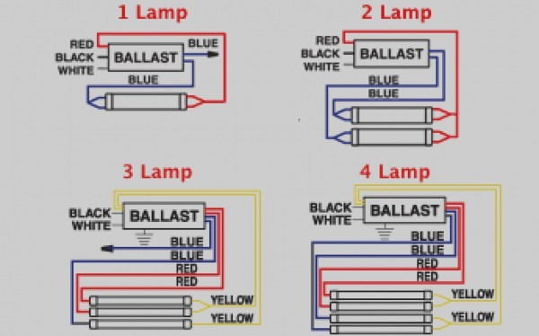 3 Lamp 2 Ballast Diagram