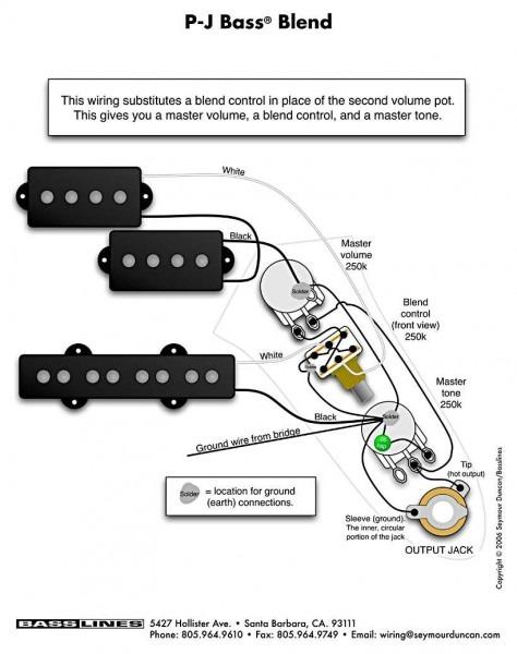 Fender Bass Wiring Diagram