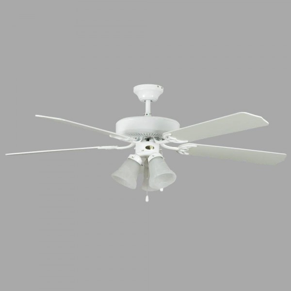 Concord Fans Heritage Home Series 52 In  Indoor White Ceiling Fan