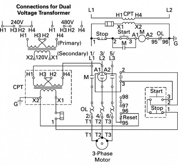 Wiring Diagram 480 120v Potential Transformer