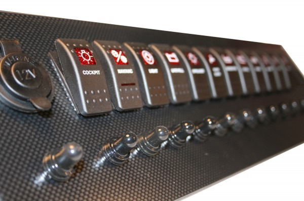 New Wire Marine  New Carbon Fiber Switch Panels!!