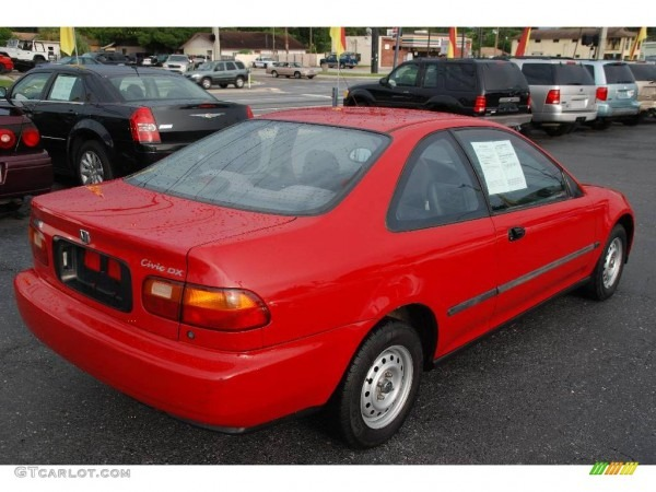 1993 Milano Red Honda Civic Dx Coupe  14435758 Photo  8