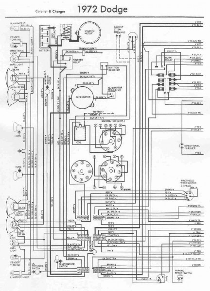 1974 Dodge Charger Wiring