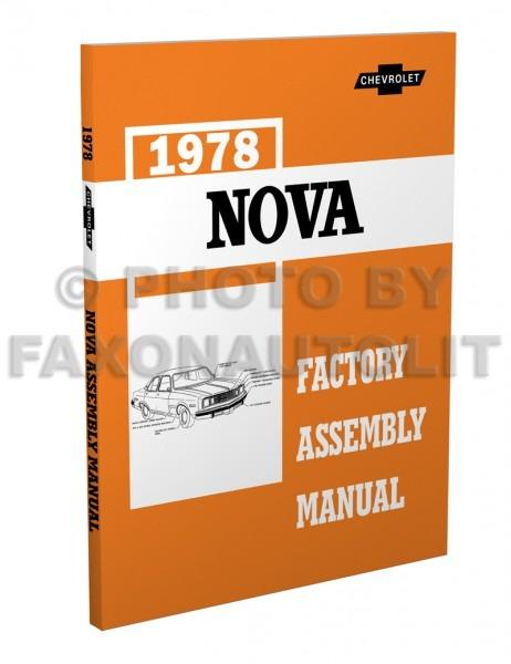 1978 Chevy Nova Factory Assembly Manual Reprint