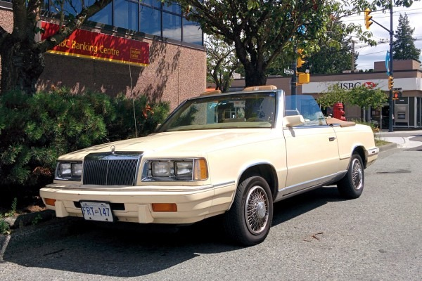 Old Parked Cars Vancouver  1986 Chrysler Lebaron Convertible
