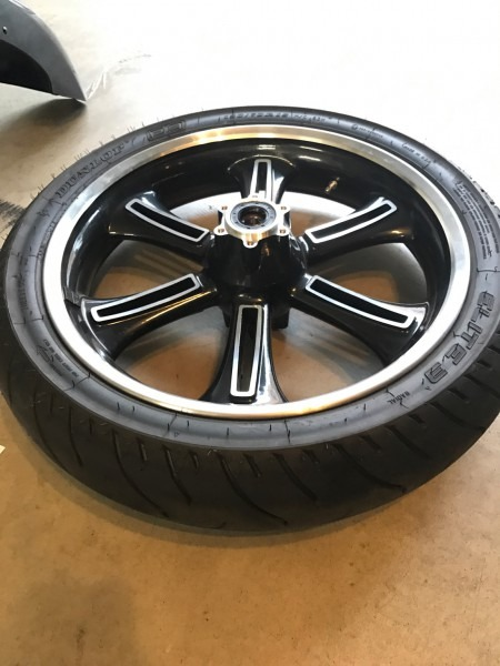 Stock Victory Cross Country Front Wheel With Tire, Front Fender
