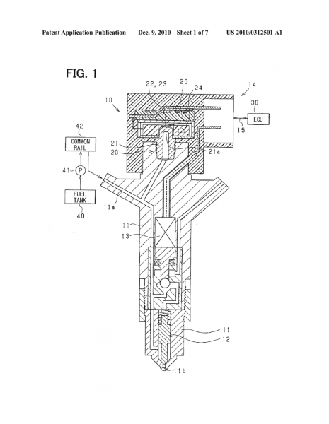 Detecting Device For Fuel Injector