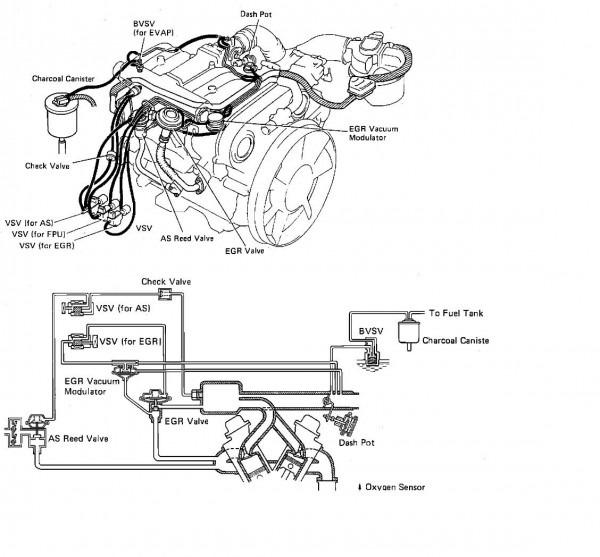 1991 Toyota Pickup Engine Diagram