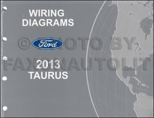 2013 Ford Taurus Wiring Diagram Manual Original