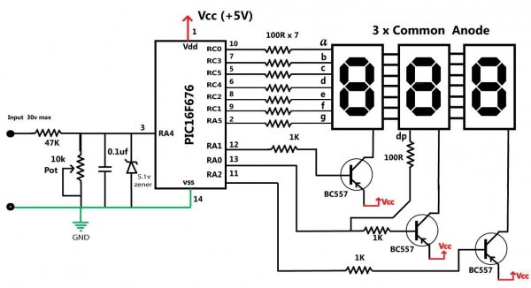 Voltage Meter Diagram