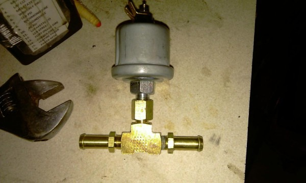 Installing Oil Pressure Gauge On 650