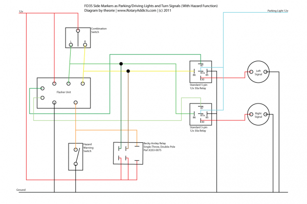 Driving Lights Relay Switch Wiring Diagram