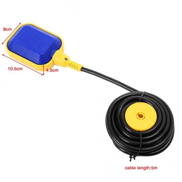 16ft Cable Float Switch Water Level Controller For Septic System