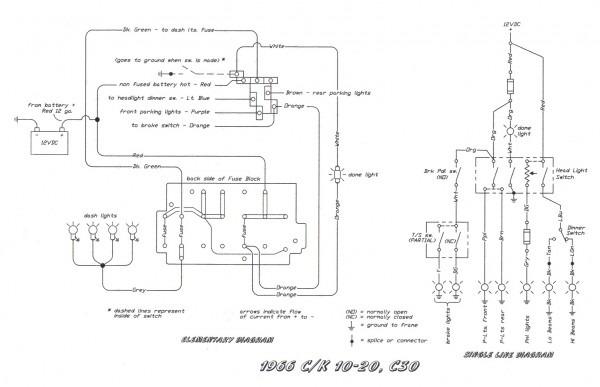 62 Chevy Headlight Switch Diagram Wiring Schematic  U2013 Car
