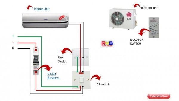 Single Phase Split Ac Indoor Outdoor Wiring Diagram Ryb Electrical