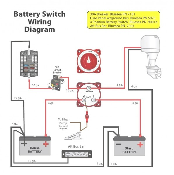 Marine Battery Isolator Wiring Diagram For Wiring With Switch