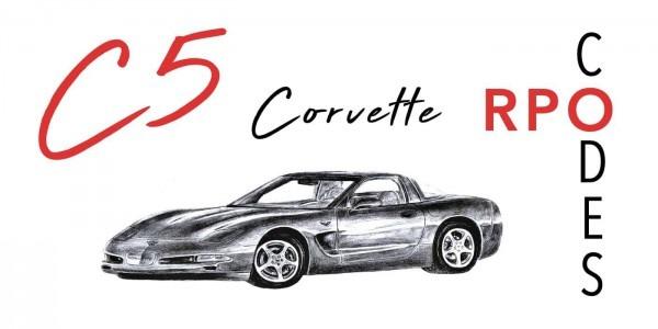 C5 Corvette Rpo Codes
