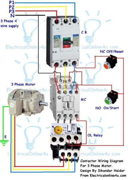 3 Phase Contactor Wiring Single Phase