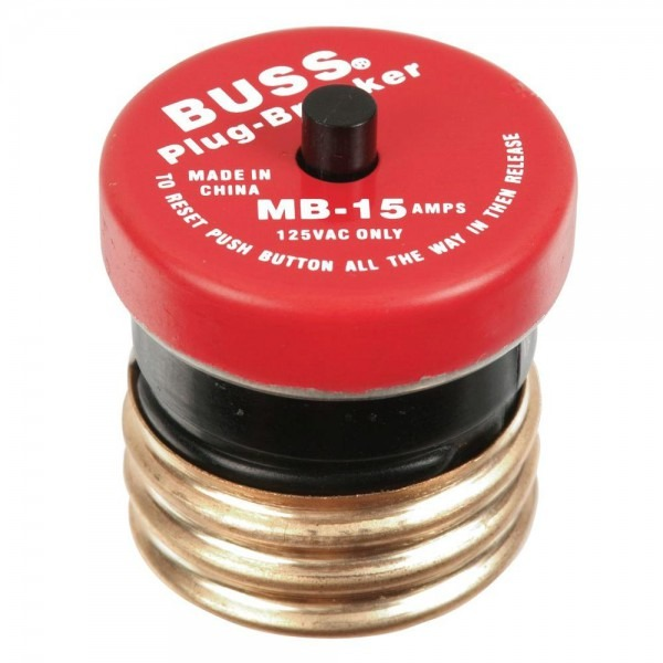 Cooper Bussmann 15 Amp Plug Type Circuit Breaker
