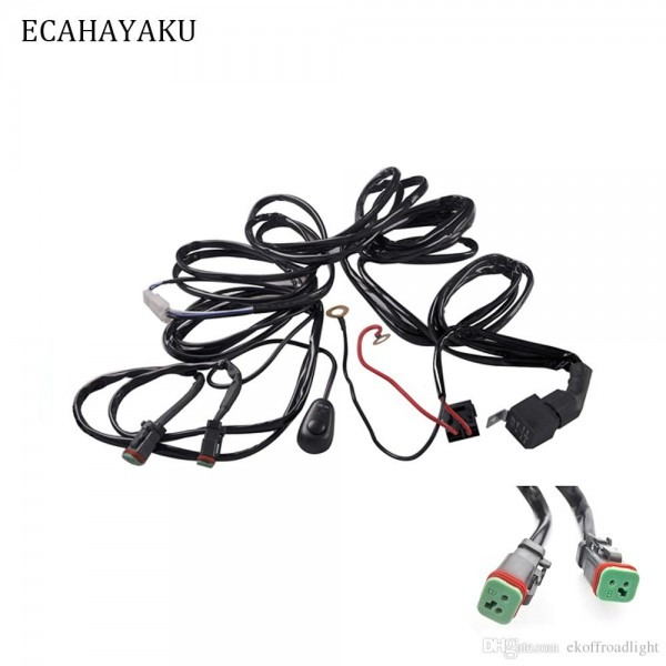 2019 Ecahayaku Car Auto Led Work Driving Lights Wiring Loom