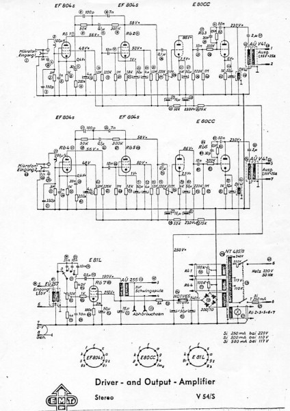 Emt Stereo Tube Reverb Amplifier Schematic