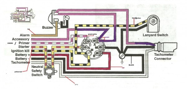 19880 Evinrude Ignition Switch Wiring Diagram