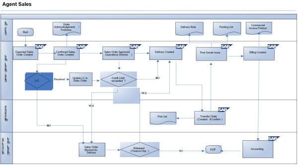 Sap Process Flow Diagrams