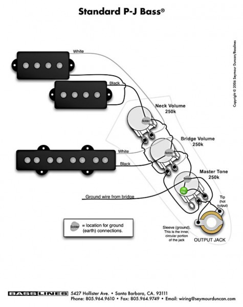 Bass Guitar Wiring