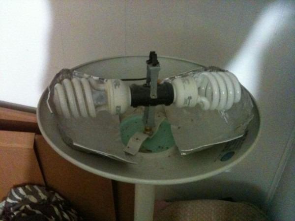 Convert A 300 Watt Torchiere Lamp Into A Dual 20 Watt Cfl  13
