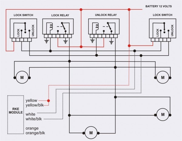 Central Locking Wiring Diagram