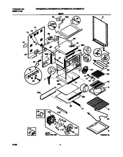 Kitchen  Frigidaire Parts