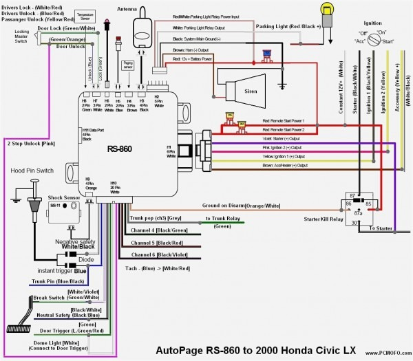 1998 Honda Civic Stereo Wiring Diagram