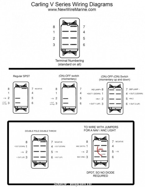 6 Post 12 Volt Lighted Switch Wiring Diagram