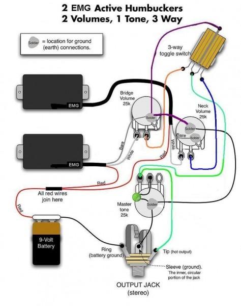 Emg 2 Volume 1 Tone Wiring