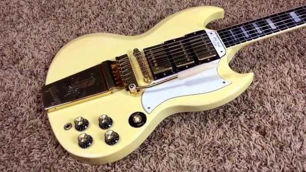 1988 Gibson Sg Les Paul Custom White 3 Pickups