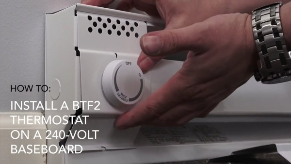 How To Install  Btf2 Thermostat On 240v Baseboard