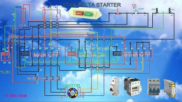 Diagram Star Delta Starter Youtube Free Electrical Wiring Diagram