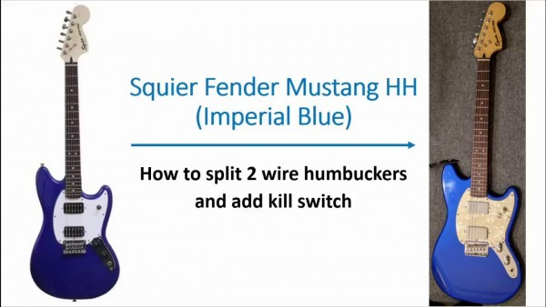 Squier Bullet Mustang  2 Wire To 4 Wire Humbucker To Split Coil