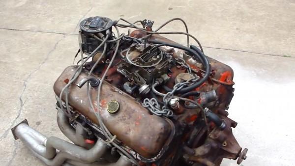 Chevy 454 Engine Start Up On Ground   Hot Ratrod Engine   Test Run