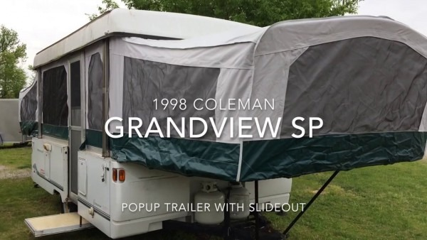 1998 Coleman Grandview Sp Popup Trailer With Slide Out