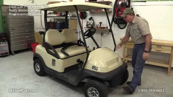 How To Remove Body On Club Car Precedent Golf Cart (part 1)