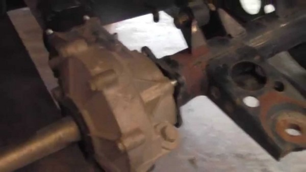How To Remove   Replace Rear Differential On Kawasaki Prairie 400