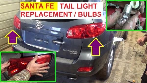 Hyundai Santa Fe Tail Light Brake Light Turn Signal Bulb